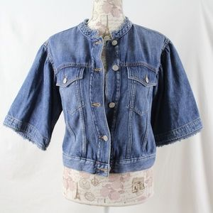 GAP Denim Flared Half Sleeve Jean Jacket